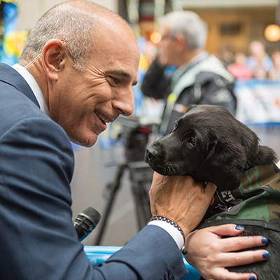 Charlie with Matt Lauer.