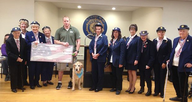 Southold American Legion presents a check to AVD. Photo credit SoutholdLocal