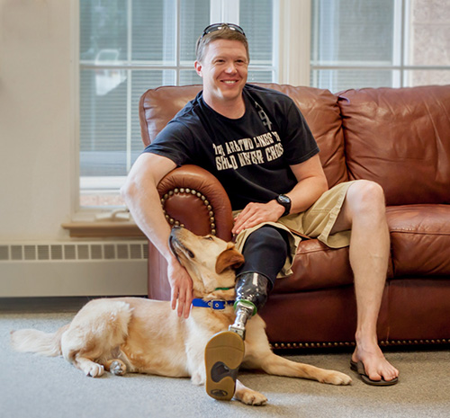 Will and his service dog spending time together.