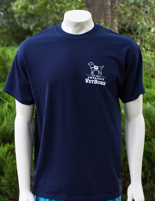 America's VetDogs Navy Blue T-Shirt Small