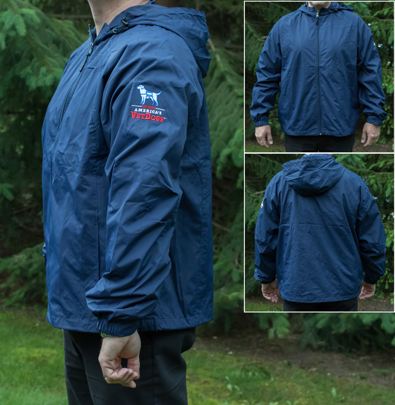 AVD Navy Blue Windbreaker with Hood XL